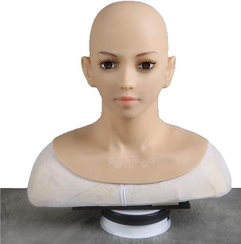 ventas en linea BZDJS Máscara de Silicona Realista de señora Handmade Face Face Face para Travesti Transgénegro Cosplay Halloween Masquerade COS Travesti  forma única