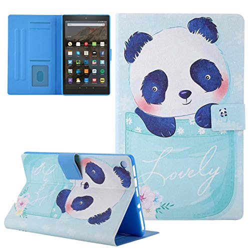 Ztongy Case for Amazon Fire HD 8 (6th/7th/8th Generation, 2016/2017/2018 Release), Multi-Angle Viewing Lightweight Cover with Auto Sleep/Wake for Kindle Fire HD 8 Tablet, Panda