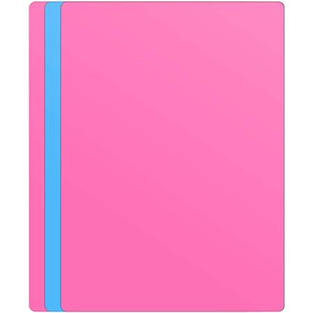 MoYouno 3pcs Grande Feuille de Silicone de Tapis de Silicone pour résine, Moulage, Art, Tapis d'artisanat Polyvalents 40x30cm, Tapis de Table pour moules époxy, Rose, Bleu