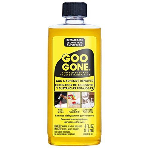 Goo Goation粘合剂去除剂 -  4盎司 - 表面安全粘合剂去除剂安全除去贴纸标签贴花渣油胶带口香糖油脂脂肪
