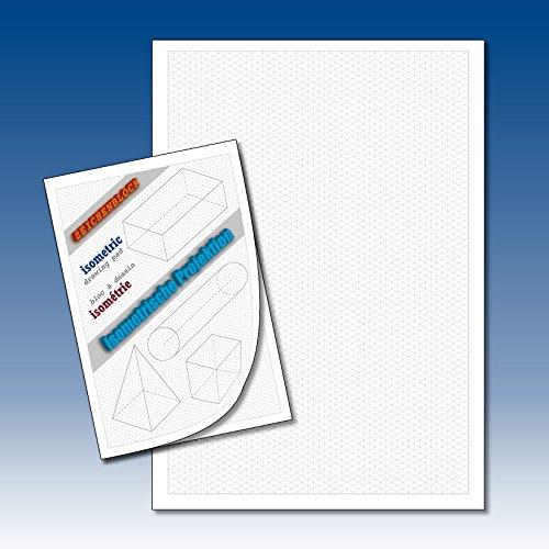 Isometriepapier Isometrieblock Isometrie 3D-Zeichenblock Dreiecknetzpapier isometrisches Zeichnen