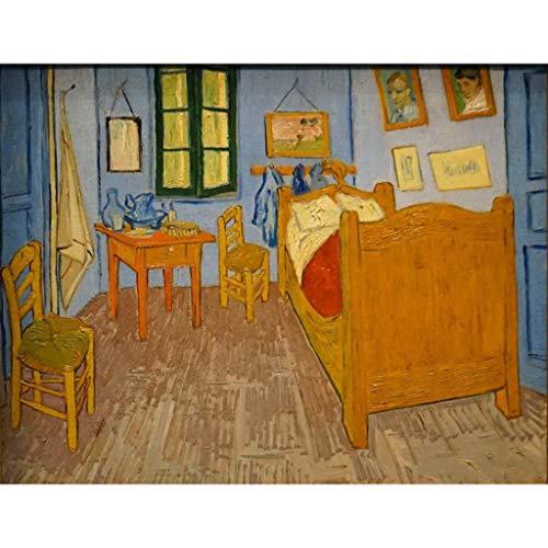 Rompecabezas Van Gogh 300/500/1000/1500 Piezas Habitación De Vincent En Arles Adultos Niños Juego Difícil (Personalizable)(Size:300 Piezas)