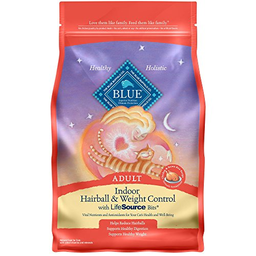 Blue Buffalo Blue Indoor Hairball & Weight Control Adult Chicken & Brown Rice Recipe Dry Cat Food, 3 lbs.