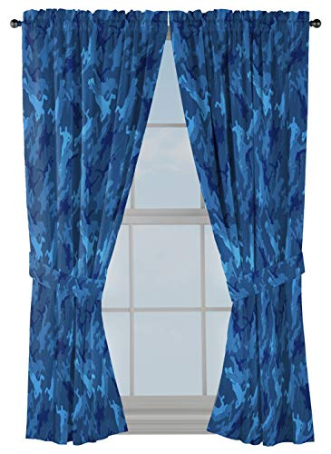 Jay Franco Fortnite Emote Camo 63' inch Drapes - Beautiful Room Décor & Easy Set Up, Bedding - Curtains Include 2 Tiebacks, 4 Piece Set (Official Fortnite Product)