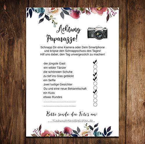 """Hochzeitsspiel   Fotoralley """"Boho Design"""" 50 Stück - 4"""