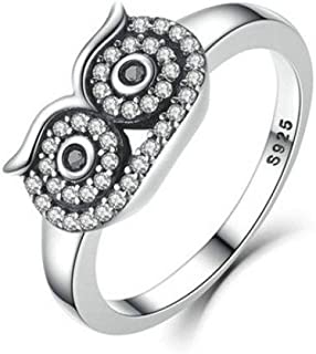 New! Balakie Fashion Women Jewelry Ring Creative Owl Diamond Ring Wedding Party Ring