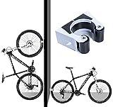 Hebilla de aparcamiento para bicicleta Gancho De Montaje En Pared Para Bicicleta soporte de almacenamiento vertical con tornillos Fácil de Instalar Soporte Bici (bicicleta de montaña)
