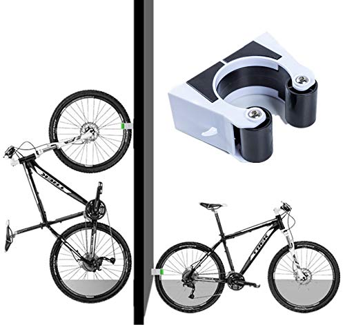 Bike Parking Buckle Clip Wall Hanger Rack Mountain Bike Road Bike Vertical Storage Portable Creative Bicycle Storage Rack Wall Mount Buckle Hook Holder for Indoor Outdoor(Mountain bike (black) large