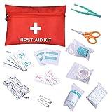 Panamar Juego de 12 Piezas Kit de Primeros Auxilios Bolsa de Tratamiento de Primeros Auxilios al Aire Libre Viaje en casa Oficina Coche Kit de Emergencia Camping Senderismo, Rojo