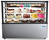 All-Purpose Commercial Bakery Display – Beautifully elegant this cold bakery display case maintains optimal 36°F to 43°F temperatures to help maintain the freshness and quality of cakes, pies, baked goods, and other fresh pastries. Clear, Wide, Glass...