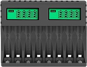 Camisin Acculader LCD Display Intelligente 8-Slot Opladers voor AA/AAA NiCd NiMh Oplaadbare Batterijen AA AAA Oplader