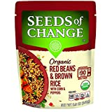 SEEDS OF CHANGE Organic Red Beans & Brown Rice, Red/Brown, 8.5 Ounce (Pack of 12)
