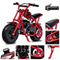 Fit Right 2020 DB003 40CC 4-Stroke Kids Dirt Off Road Mini Dirt Bike, Kid Gas Powered Dirt Bike Off Road Dirt Bikes, Gas Powered Trail Mini Bike - Ultra Edition (Red Flame) by Fit Right