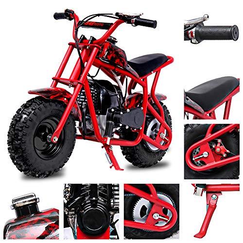 Fit Right 2020 DB003 40CC 4-Stroke Kids Dirt Off Road Mini Dirt Bike, Kid Gas Powered Dirt Bike Off Road Dirt Bikes, Gas Powered Trail Mini Bike - Ultra Edition (Red Flame)