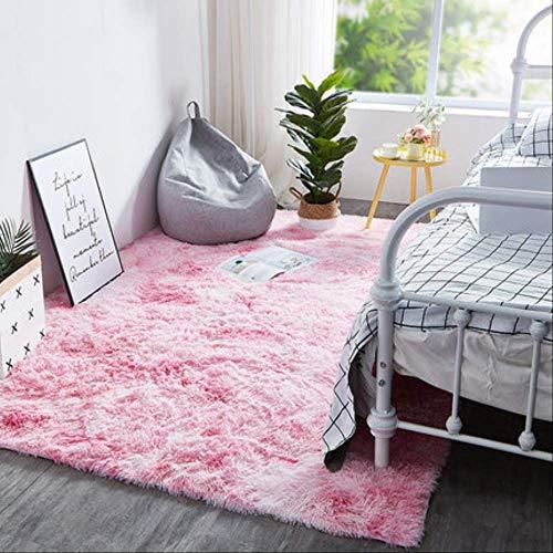 LIB Rainbow Carpet Gradient Tie-DyePlüschteppich Wohnzimmer CouchtischPad Teppich SchlafzimmerNachttischTeppichKrabbeltier 80cm x 120cm