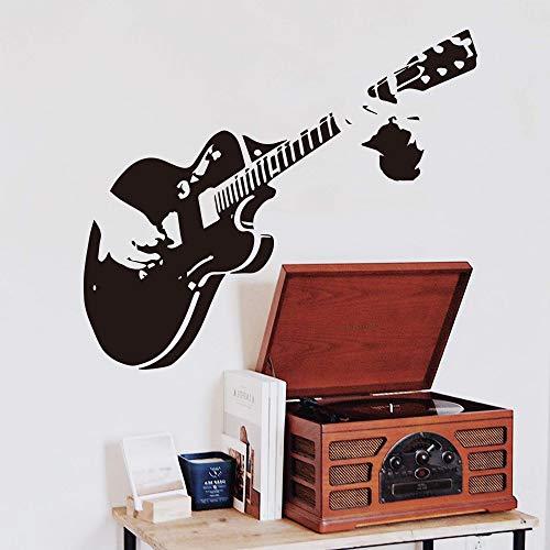 Gitaar Muziek Creatieve Muursticker Decoratie Muursticker Muursticker Muurschildering Muursticker A3 58x67cm