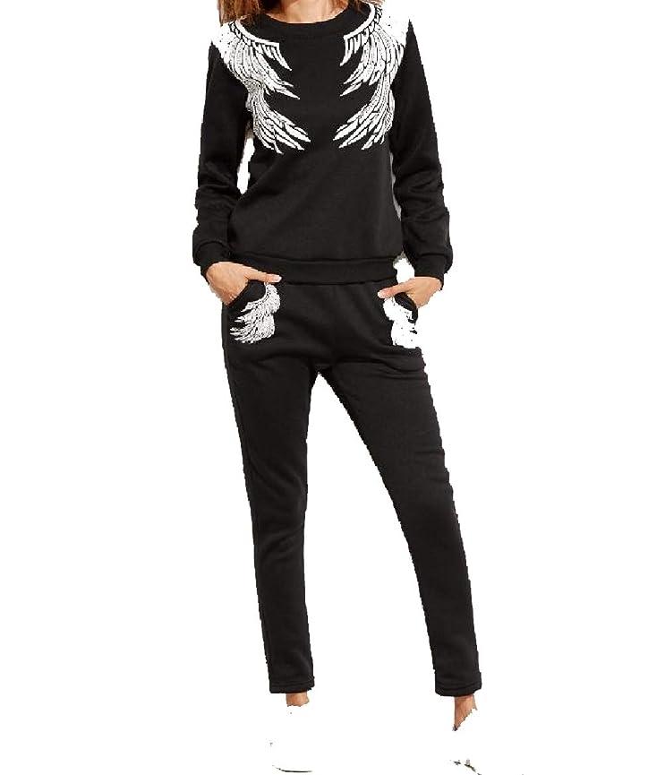 歌手イースター言語学sayahe 女性ツーピース花刺繍プラスベルベットスポーツトラックスーツ