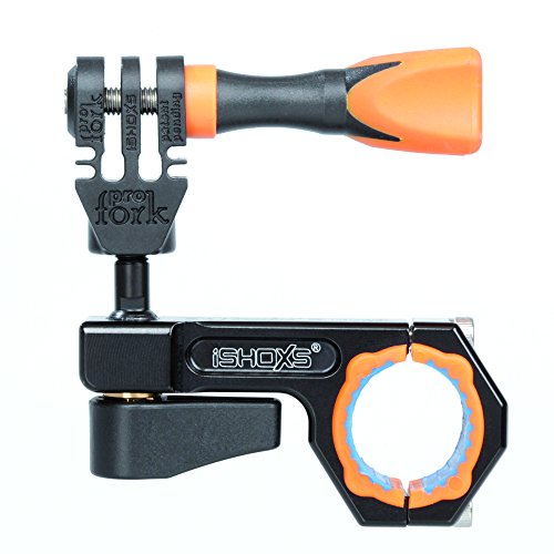 iSHOXS Roll Bar Mount - BullBar 3D (19-23mm Klemmbereich), CNC-gefräste Aluminium Sport- und Actionkamera Halterung - Schwarz