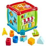 Buyger 6 in 1 Música Centro de Actividades Cubo de Actividades Juguetes Educativos Puzzles Infantiles Niños