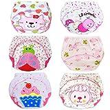 HaimoBurg Confezione da 6 Impermeabili Cotone Mutandine di Apprendimento per Bambino (2-3 Anni, B),Rosa