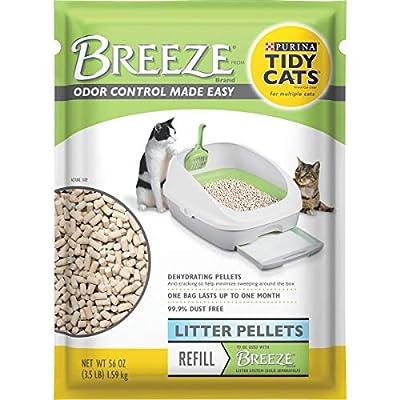 Purina Tidy Cats Litter Pellets, BREEZE Refill Litter Pellets - (6) 3.5 lb. Pouches