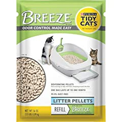 Six (6) 3.5 lb. Pouches - Purina Tidy Cats Litter Pellets, BREEZE Refill Litter Pellets If you loved this Tidy, try searching code B07H9ZPVVV for more great options Dehydrates solid waste to prevent tracking 99.9% dust-free formula Allows for quick a...