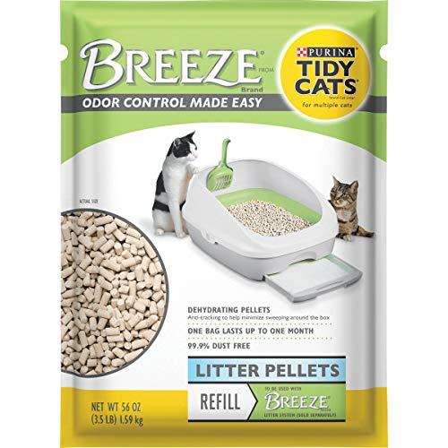 Tidy Cats Purina Breeze Relleno de arenero para Gatos múltiples 3.5 LB. Bolsa – 6 Paquetes