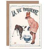 Artery8 La Vie Parisienne Woman Legs Agriculture Magazine Cover Sealed Greeting Card Plus Envelope Blank Inside París Mujer Portada de la Revista Cubrir