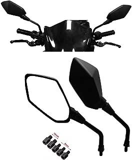 Universal Motorcycle Mirrors, kemimoto M8 M10 Threaded Bolt Double Take Mirror for Scooter, ATV Kawasaki, Suzuki, Honda, Victory