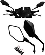 Universal Motorcycle Mirrors, KEMIMOTO M8 M10 Threaded Bolt Double Take Mirror for ATV Kawasaki, Suzuki, Honda, Victory