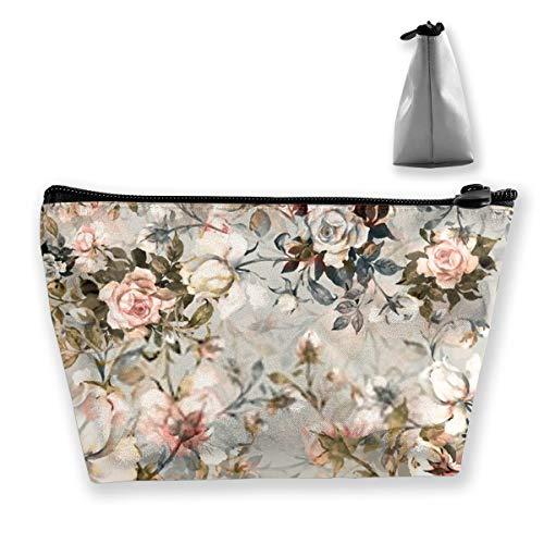 Trousse de maquillage portable Motif bouquet de roses