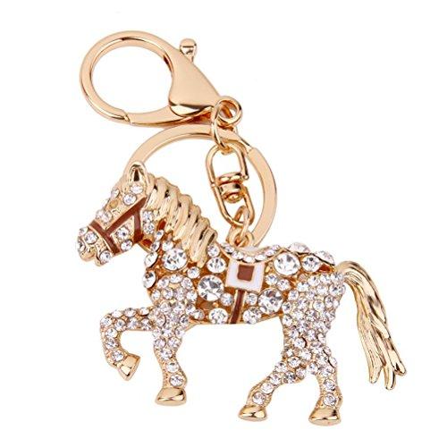 Schlüsselanhänger mit Stass, in Form einer Pferdes von Pixnor (Kaffee)
