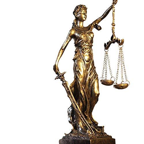 Mnjin Decoración del hogar, estatuillas, estatuas, estatuillas, esculturas, Diosa de la Justicia Griega Estatua/Feria de los ángeles Escultura de Resina Adornos de Personas para la Escultura Ado