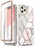 i-Blason Cover iPhone 11 Pro 360 Gradi Custodia Brillantini con Protezione per Display [Serie Csomo] Glitter Case per iPhone 11 Pro 2019, Marmo