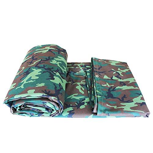 XUEYAN Camouflage Feuille de bâche épaisse imperméable à l'eau de Plein air imperméable à l'eau de Couverture de Feuille de bâche de Protection terrestre armée Verte Camo, 550G / M² (Taille : 4 * 8m)