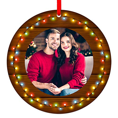 SICOHOME Our First Christmas as Mr & Mrs 2020, 3' Our First Christmas Frame Ornament,1st Personalized Married Newlyweds Wedding Christmas Ornament