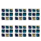 VOSAREA 6 Piezas Pegatinas de Azulejos 3D Etiqueta de la Pared Papel Pintado Cocina Protector contra Salpicaduras baño extraíble azulejo Escalera elevadores calcomanías decoración