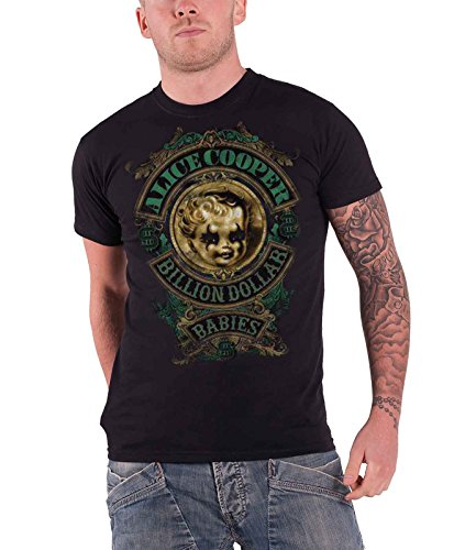 Alice Cooper Herren T-Shirt, Gr. Medium, schwarz