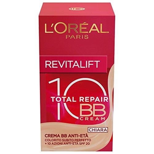 L'Oréal Paris Revitalift Total Repair 10 Crema Bb Anti-Età SPF 20 Chiara, 50 ml