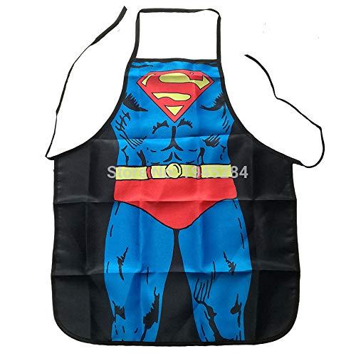 RQWY Delantal Delantal Sexy Divertido de Superman Cocina BBQ ...
