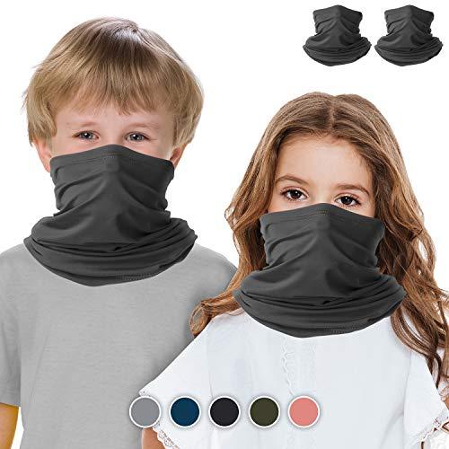 Halstuch, Gesichtsmaske, für Kinder, 2 Stück, Bandana, Gesichtsmaske, atmungsaktiv, multifunktional, magisches Schild, Halstuch gegen Staub, Wind