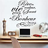 stickers muraux enfants pirate Citation Française Rêve Ta Vie En Couleur Pour Le Salon Chambre