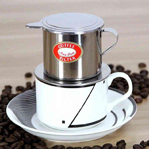 HonFitat Vietnamesisch-Stil Edelstahl Kaffee Drip Pot Filter Kaffeemaschine Infuser Kaffee Tropf Topf
