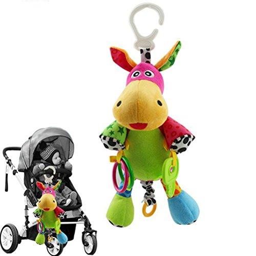 STOBOK Juguete sonajero Bebe para cochecitos Juguetes de Desarrollo de Inteligencia de bebé Cuna Cochecito Juguetes para recién Nacido (Burro)