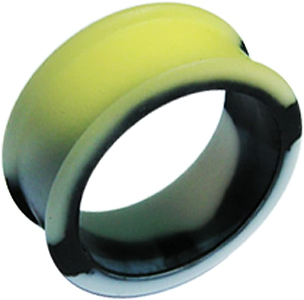 AtoZ Piercing Marble Silicone Color Changeable to Yellow Under Sunlight Tunnel Gauge Ear Plug - Sold by Piece