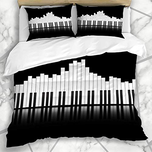 LIS HOME Duvet Cover Sets Piano Equalizer Concept Stereo Graphic...