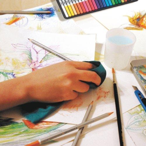 Staedtler Karat Aquarell Premium Watercolor Pencils, Set of 12 Colors (125M12) Photo #7