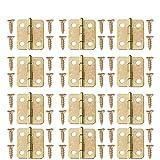 Exceart 100 Stücke Mini Scharniere Eisen Scharniere Vintage mit 400 Stücke Ersatz Schrauben DIY...