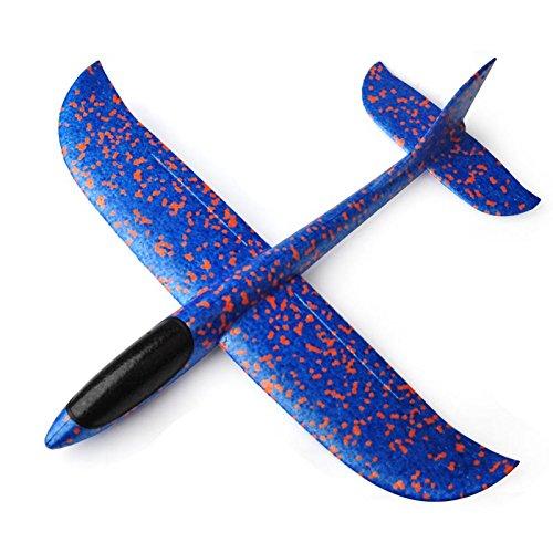 Oksea 3 DREI Farben Styroporflieger Flugzeug Kinder Flugzeug Spielzeug Outdoor Wurf Segelflugzeug Werfen Fliegen Modell für Kinder Kindergeburtstag Flugzeug Spielzeug Outdoor (Blau)