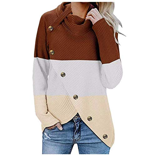 HaiDean dames vest met lange mouwen knoop met casual herfst moderne casual onregelmatige coltrui unieke Cozy Transition jassen
